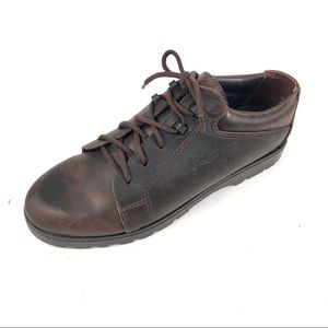 Bass Womans 718048 Brown Nubuck Suede Oxford Sz 7M